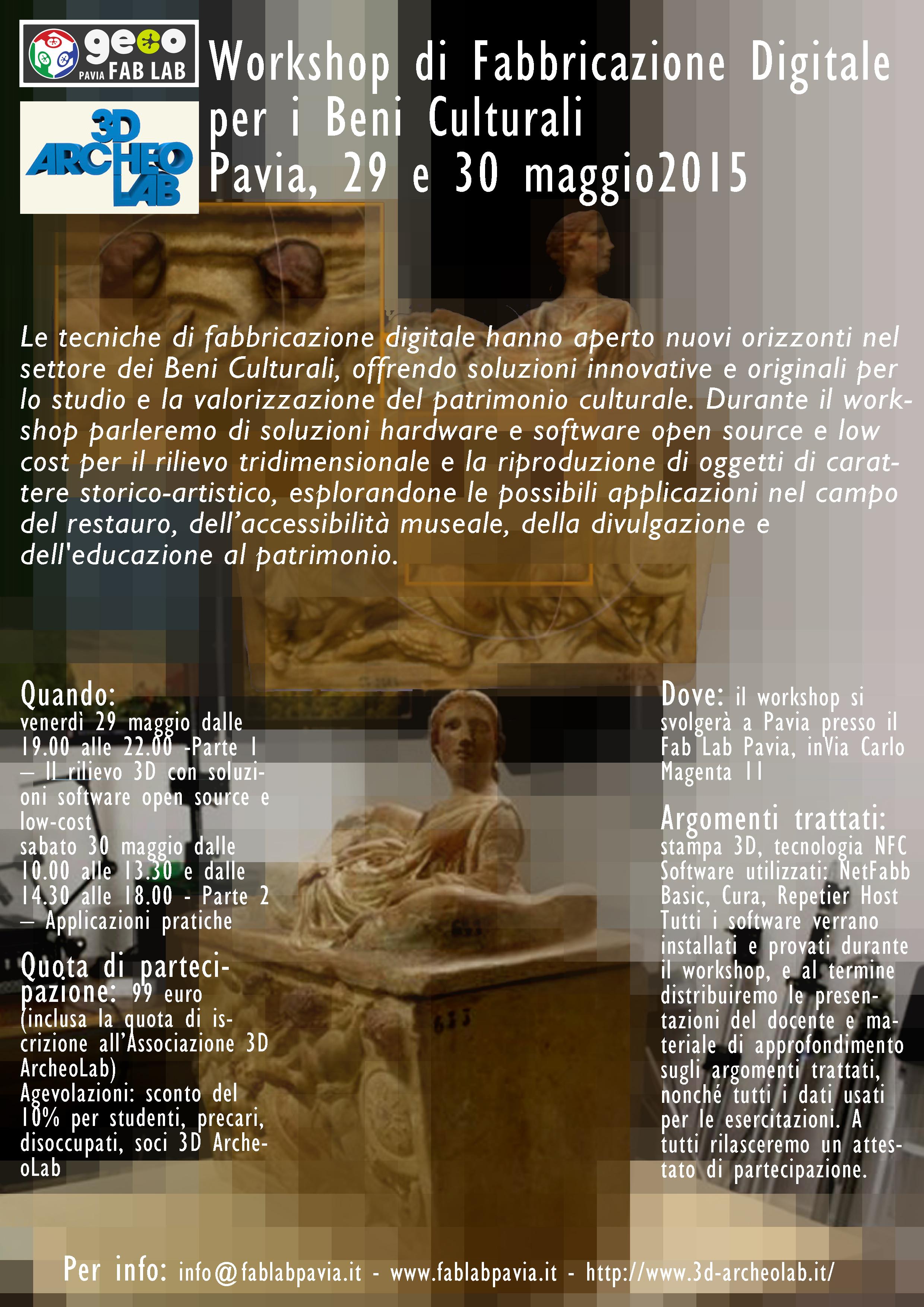Workshop di fabbricazione digitale per i beni culturali!