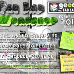 WORKSHOP febbraio 2015 al Fab Lab Pavia!!