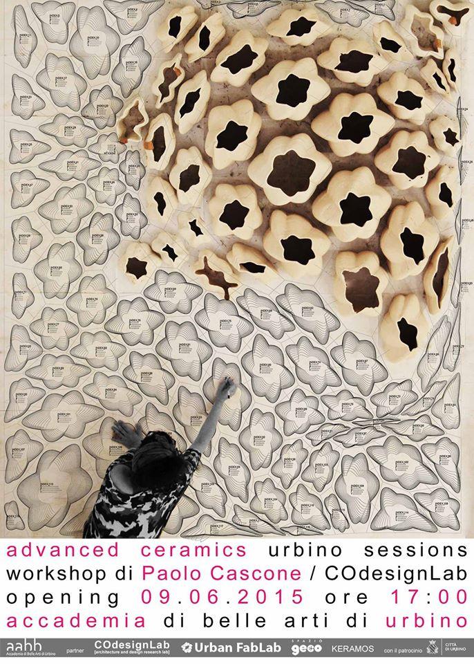 Advanced Ceramics un workshop collettivo ad Urbino, Fab Lab Pavia presente!!